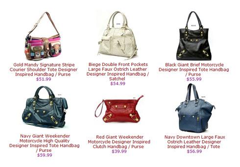 Designer inspirierte Handtaschen