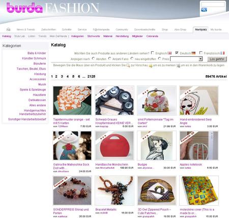 Burda Fashion jetzt mit Marktplatz von DaWanda