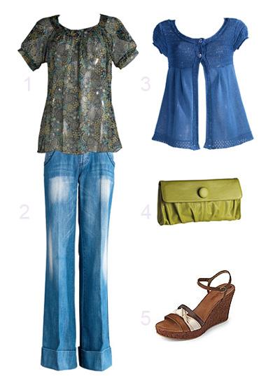 Weite Jeans im 70er Style