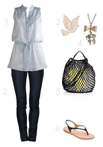 Outfit in blau