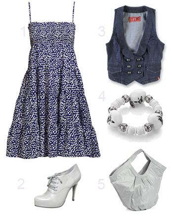 Kleid und klasse Schuhe
