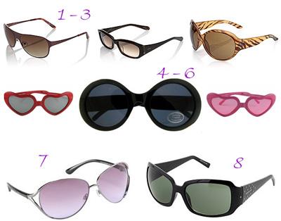 Sonnenbrillen aus dem Online-Shop