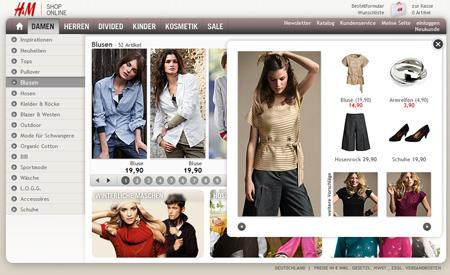 H&M Shop in neuem Design