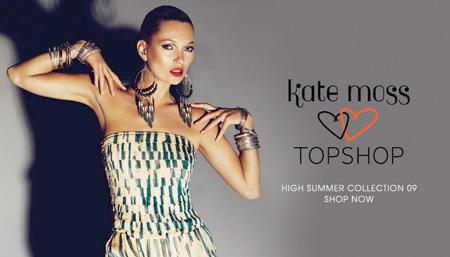 Kate Moss und Topshop