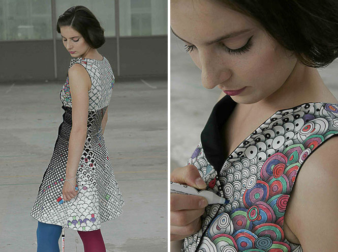 Kleid zum Selbermalen – Do it Yourself