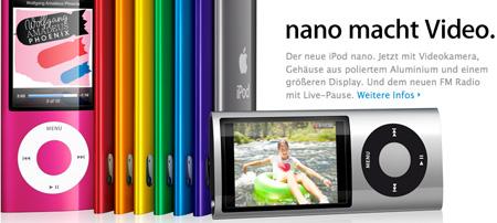 Film ab, Kamera läuft – Der neue iPod nano