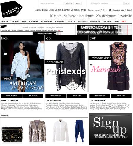 Einkaufen ohne Grenzen – farfetch.com