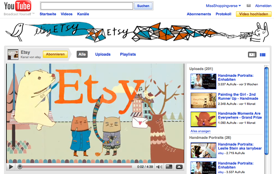 Etsy in technicolor