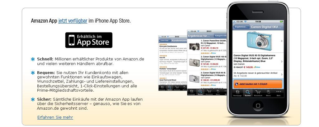 iPhone Shopping auf Amazon