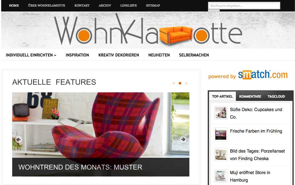 Neues Blog am Start – Wohnklamotte