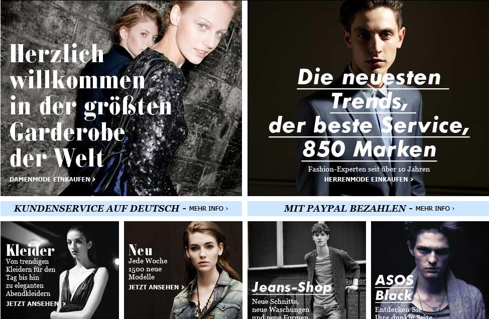 ASOS.de – Launch des deutschen ASOS Stores