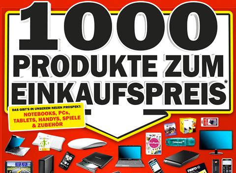 1000 Produkte …billiger bei Media Markt und Amazon