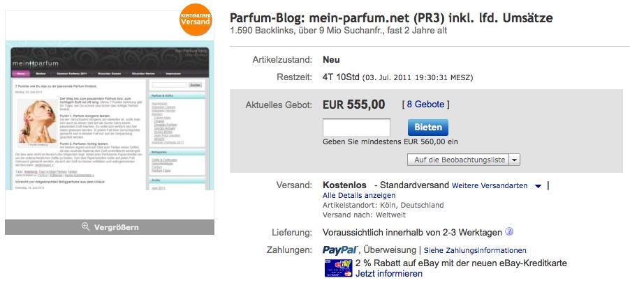 Blog zu verkaufen – kostenloser Versand inklusive