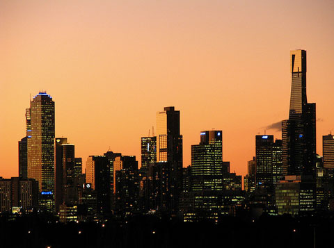 melbourne-sunset