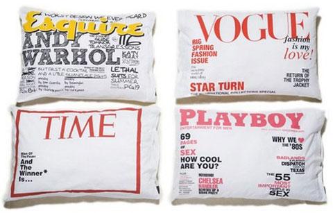 Zeitschriftencover-Kissenbezug