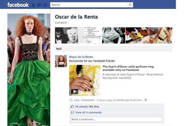 Facebook Shopping mit Oscar de la Renta