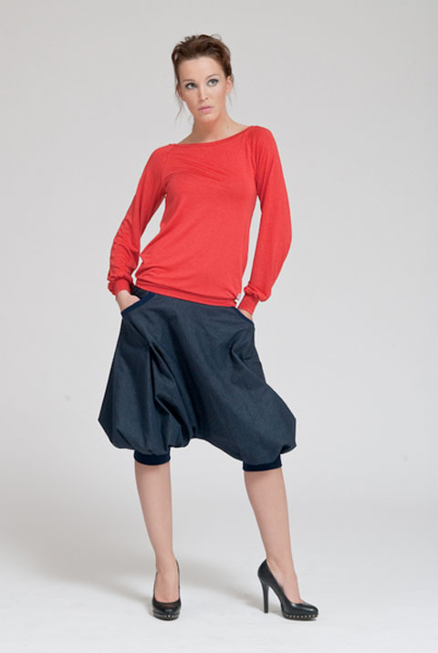 Pumphose-Jeans