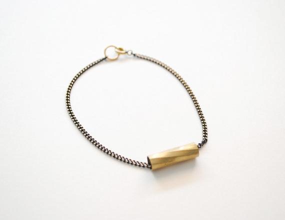 black-gold-chain-spiral-tube-bracelet