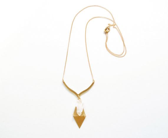 double-triangle-quartz-cluster-necklace