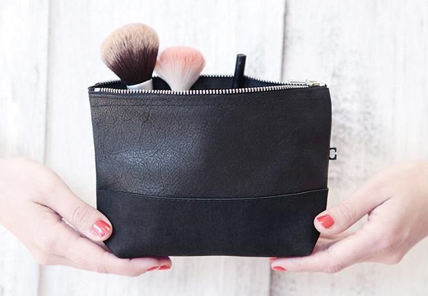 Kosmetiktasche-Leder