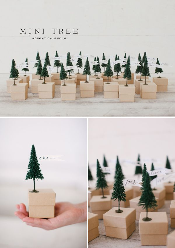 Mini Tree Advent calendar