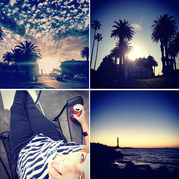 Sonnenuntergang-Australien