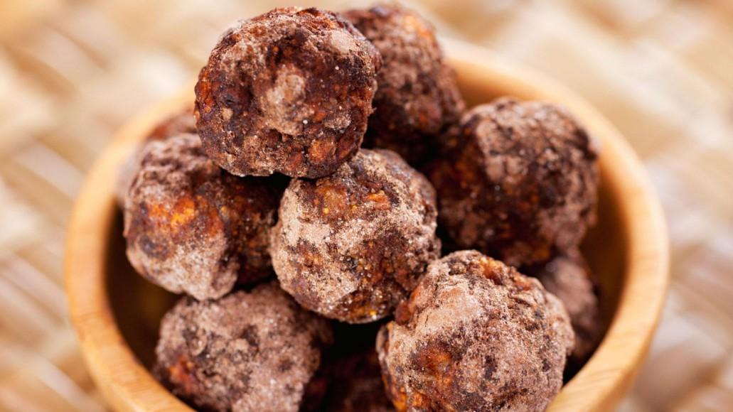 no bake raw cacao protein balls