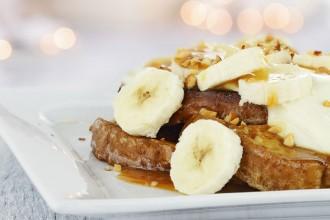 Honeyed walnut & banana toast