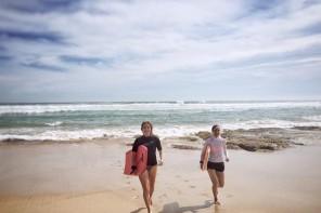 Bodyboarden, Sommer und Biergarten